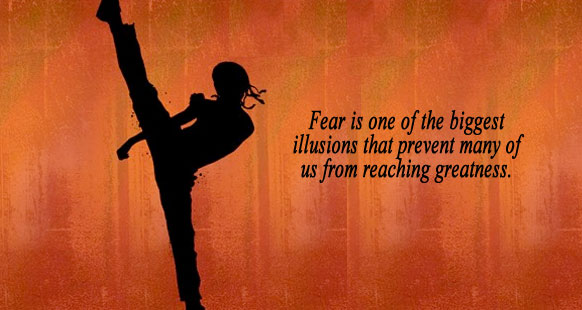 "Quote ""Fear is one of the biggest illusions that prevents many of us from reaching our dreams."