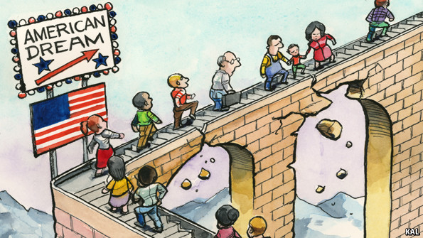People are walking on a bridge that represents the crumbling American dream. The dream is no longer to just own a home and start flipping homes, you need to do more.